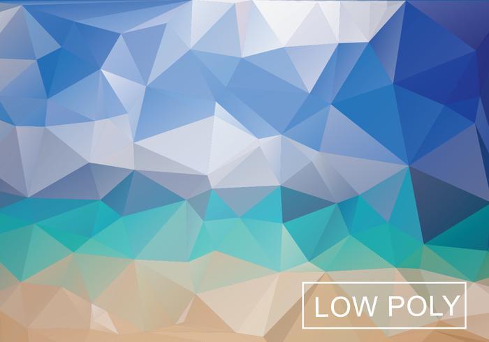 Flerfärgad geometrisk Låg Poly Vektor Bakgrund