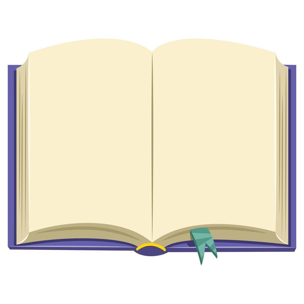 tom bok bakgrund vektor
