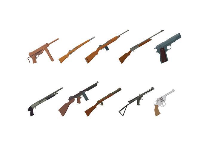 Freie Weltkrieg 2 Gewehrvektoren vektor