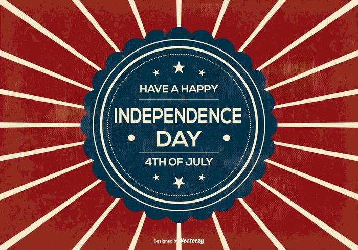 Retro självständighetsdag illustration vektor