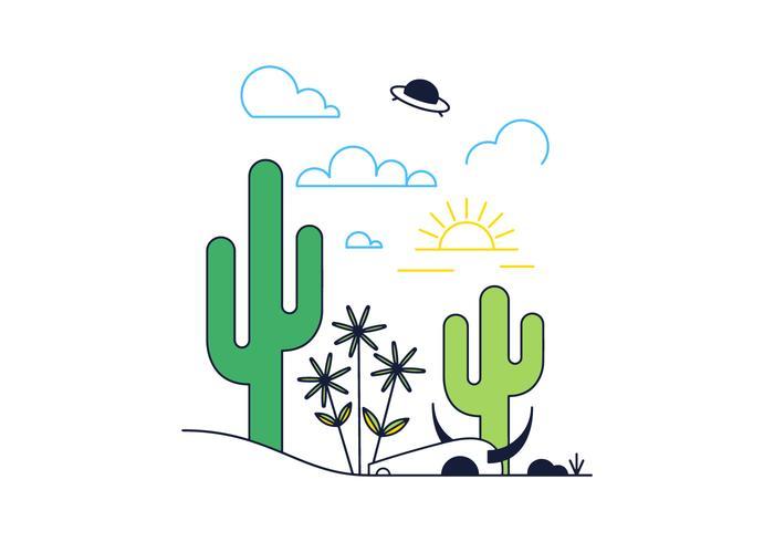 Freier Wüstenvektor vektor