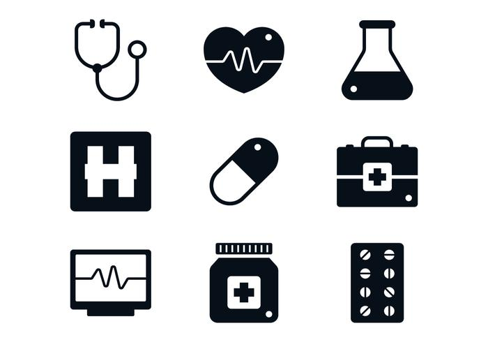 Medizinische Icon Set vektor
