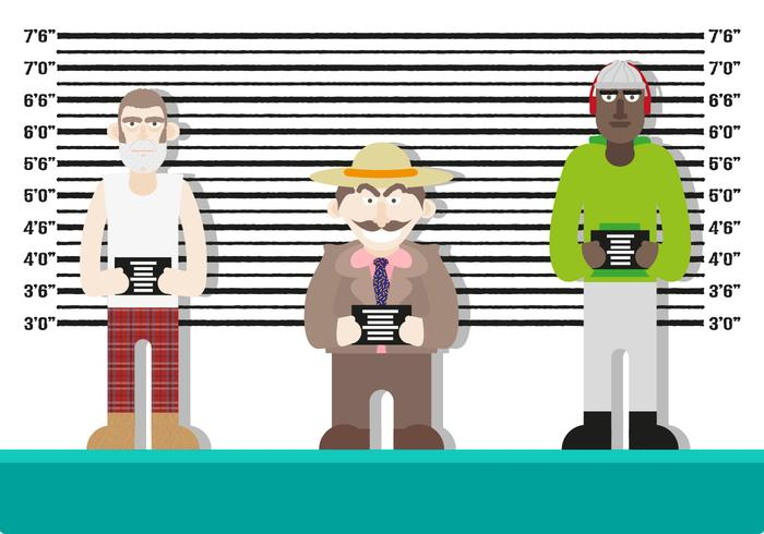 Mugshot Hintergrund Zeichen Polizei Vektor