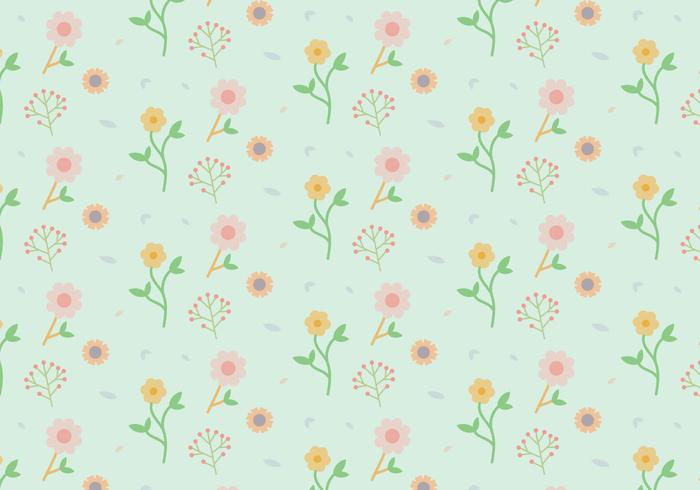 Blumen Pastellmuster vektor