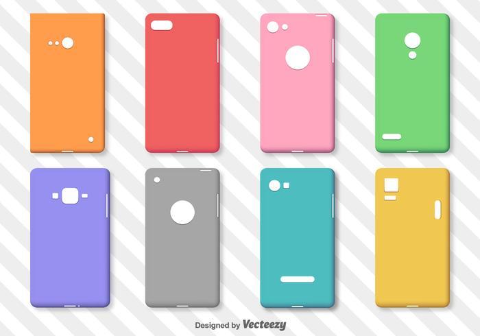 Set von einfachen bunten Telefon Fällen Vektor