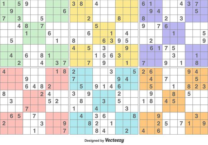 Vector Sudoku pusselspel