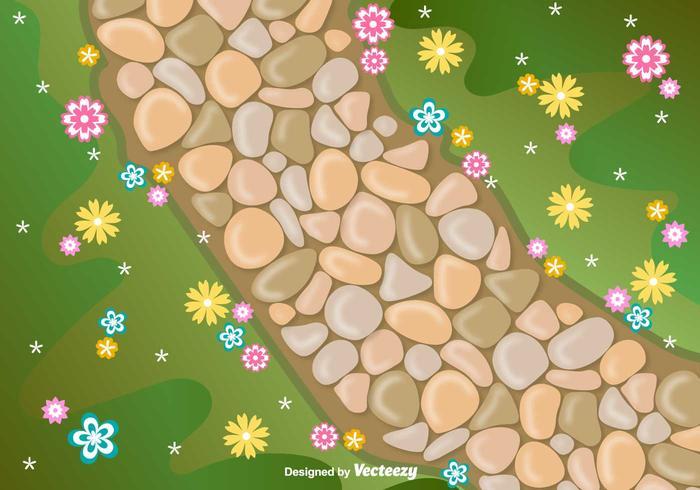 Vector Stone Path Vektor-Illustration