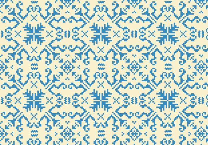 Nähte blaues Muster vektor