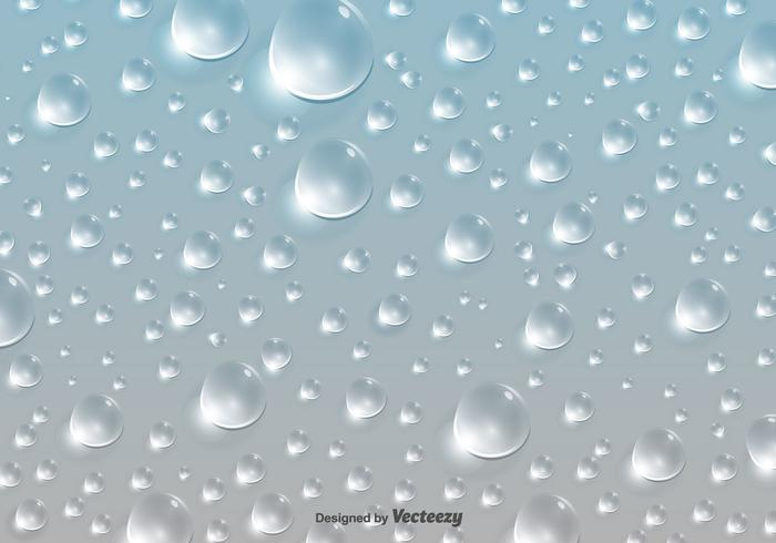 Vatten droppar Mönster Bakgrund - Vektor