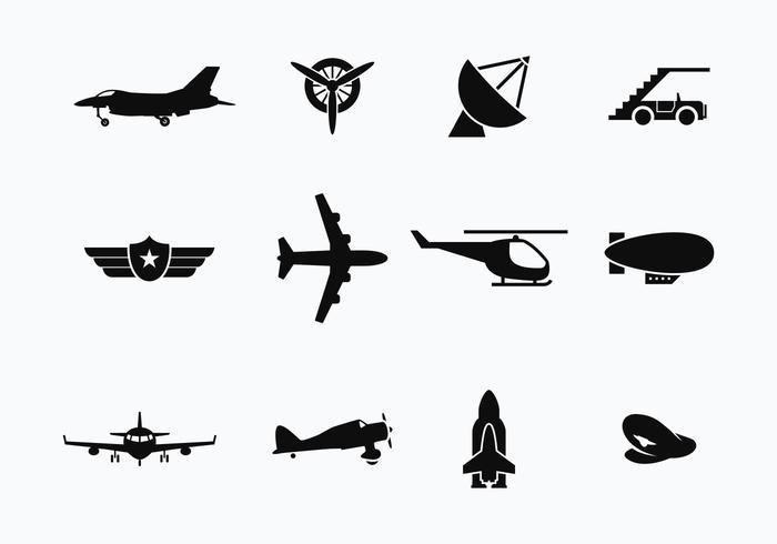 Gratis Avion och transportvektorer vektor