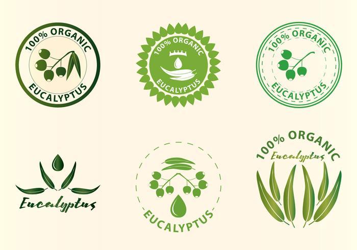 Eukalyptus logotyper vektor