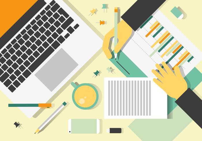 Free Bunte Vector Designer Schreibtisch Design