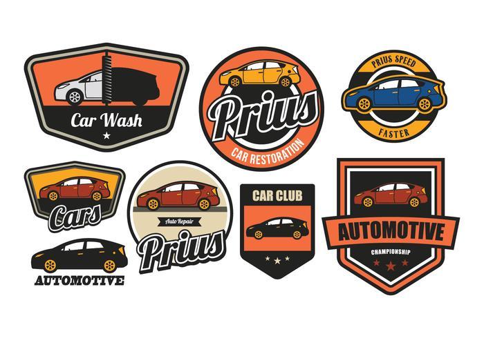 Bil vintage emblem vektor