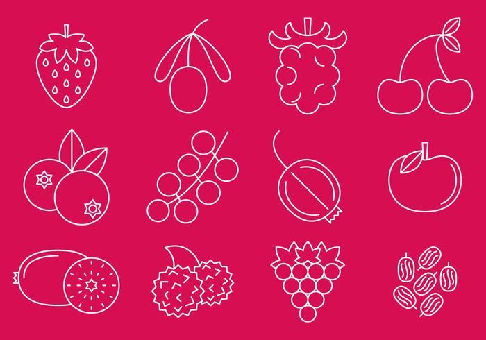 Berry Line Icons vektor