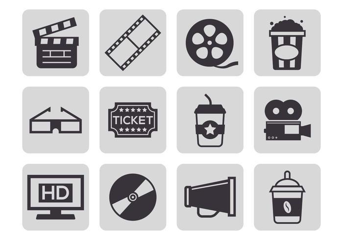 Free Cinema Icons Vektor