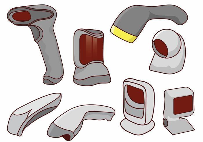 Streckkodsläsare vektor