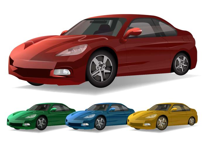 Sportbilvektorer vektor