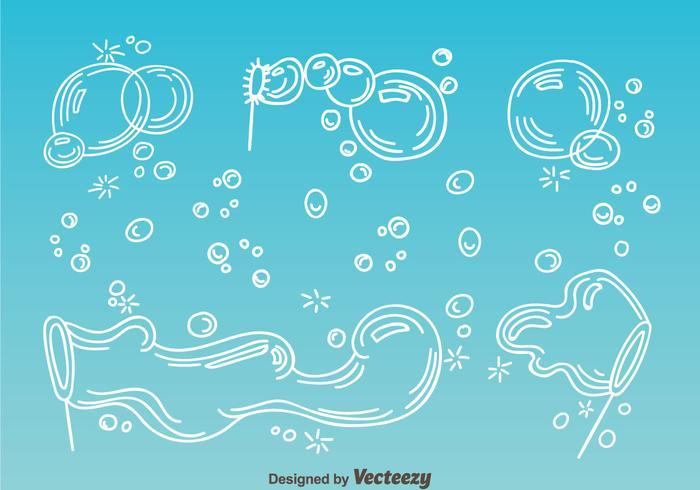 Seifenschaum-Blasen-Vektor vektor