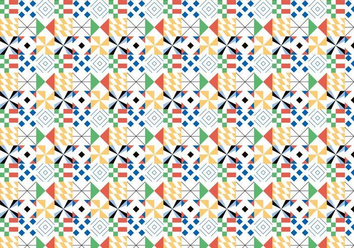 Buntes geometrisches Muster vektor