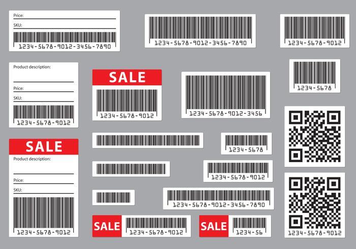 Bearbeitbare Barcodes vektor