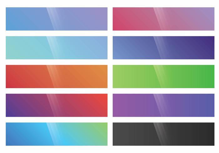 Webkit Linear Gradient Top Set vektor