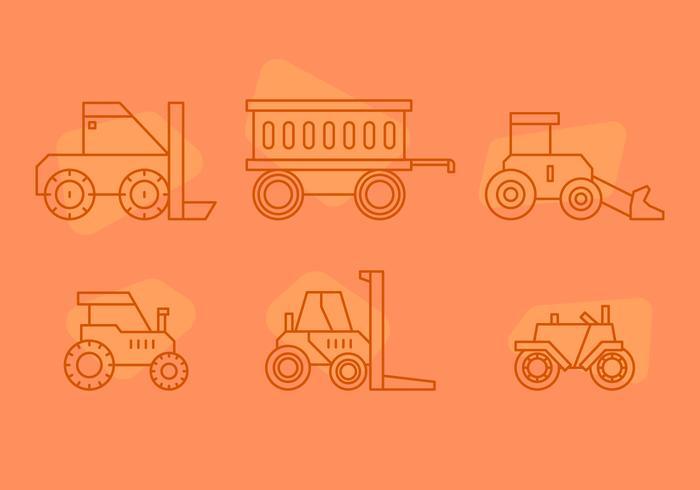 Fri traktordäckvektor 3 vektor