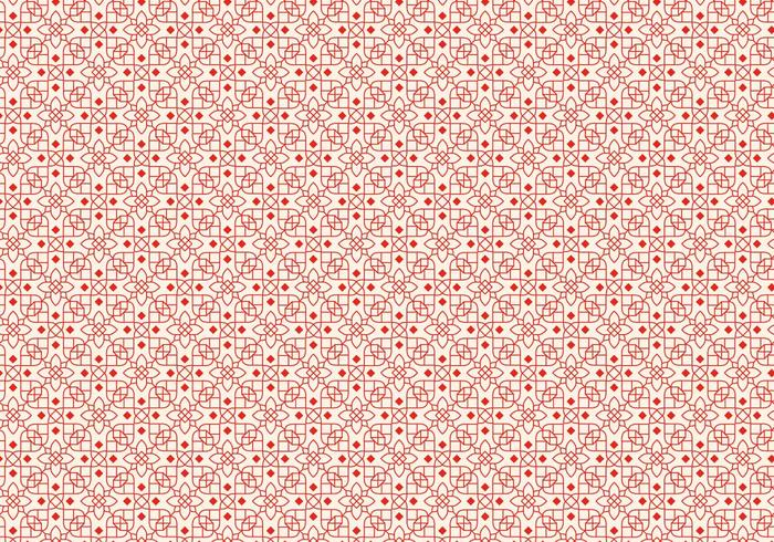 Röd skisserad mönster vektor