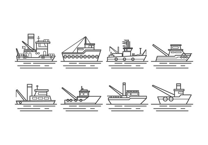 Free Tugboat Vektor