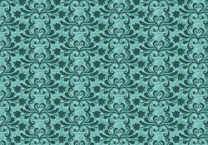 Gratis Vector Teal Western Flourish Pattern