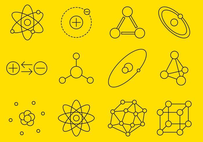 Atomzeilen-Icons vektor