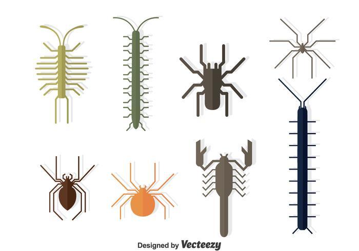 Insamlingsvektor för insekter vektor