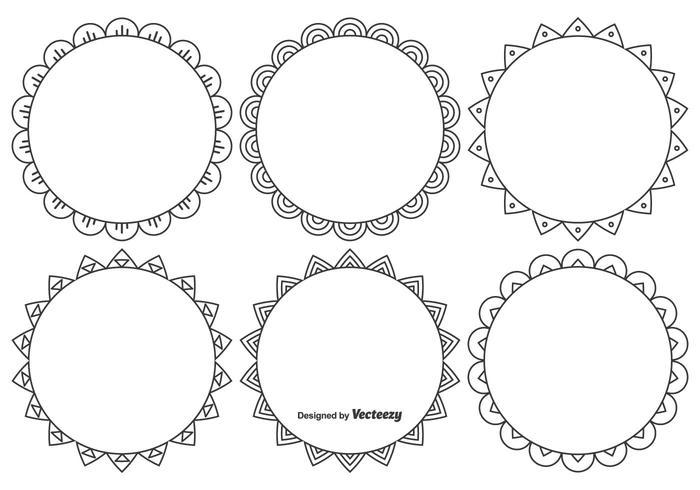 Nettes dekoratives Rahmenset vektor