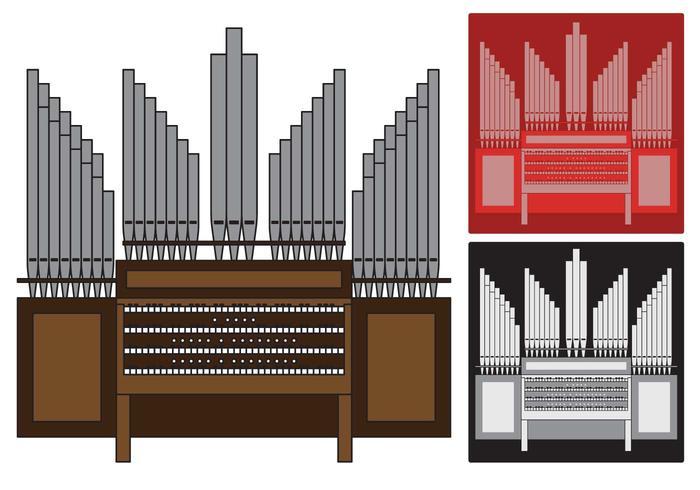 Rör orgel illustration vektor