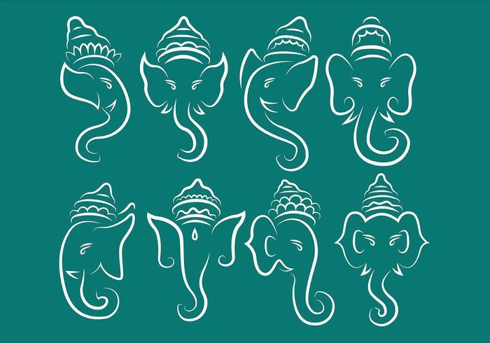 Ganesh logotyper vektor