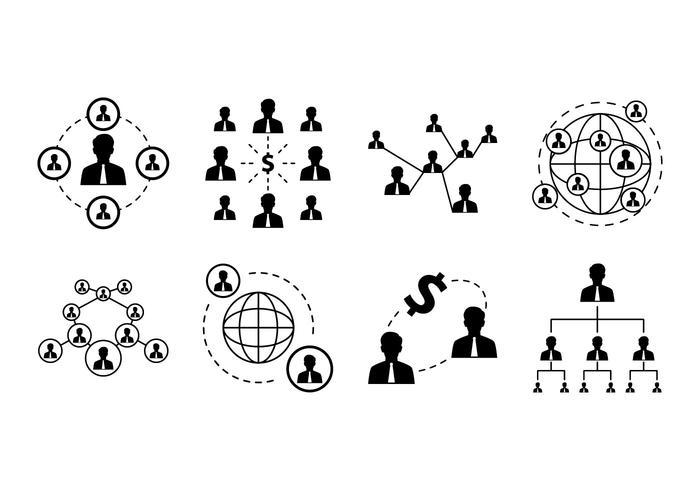Fri företagsnätverk ikon vektor