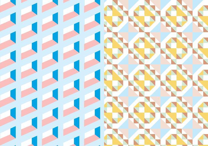 Pastellfärgad geometrisk mönster vektor