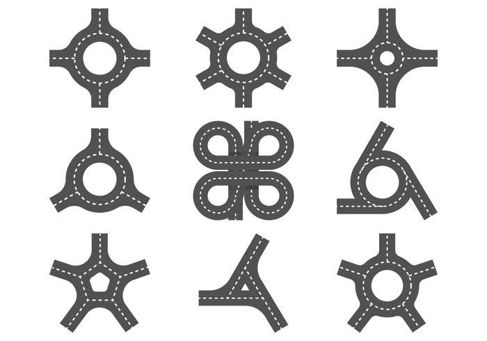 Runde Weg Icon vektor