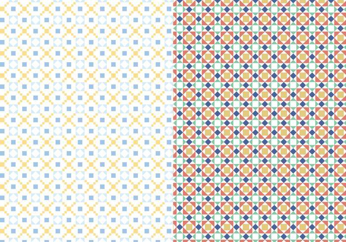 Dekorativt mosaikmönster vektor