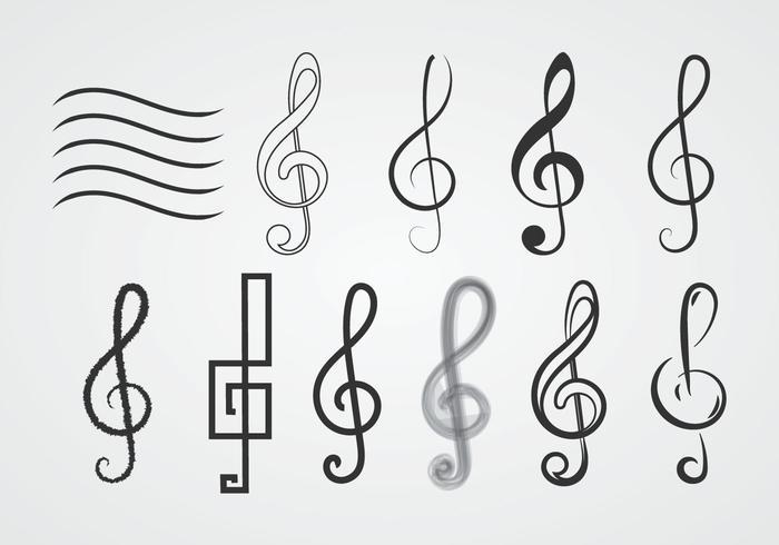 kostenlose violinschlüssel - download kostenlos vector