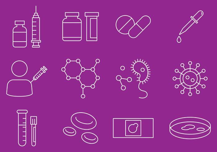 Sjukdom och virus ikoner vektor