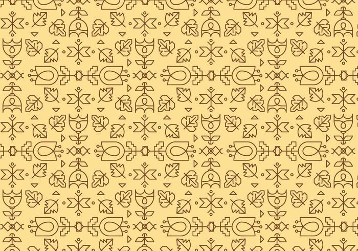 Gelb Umriss Geometrisches Muster vektor
