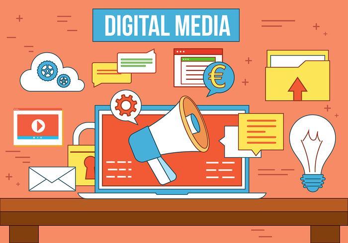 Kostenlose Vector Digital Media