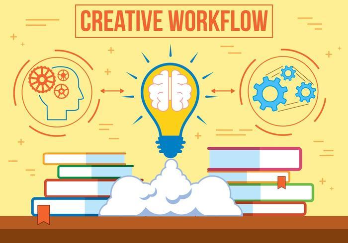 Gratis vektor kreativ arbetsflöde