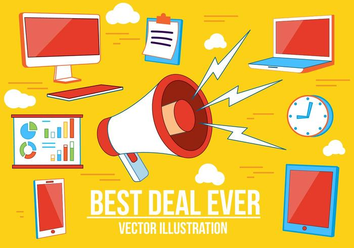 Gratis Bästa Deal Vektor Illustration