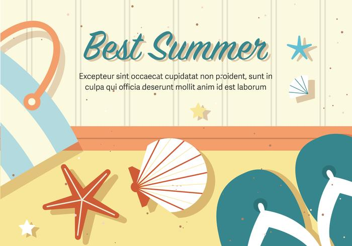 Kostenlose beste Vektor Sommer Illustration