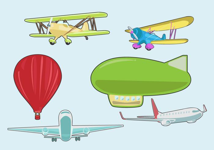 Verschiedene Avion Vektor
