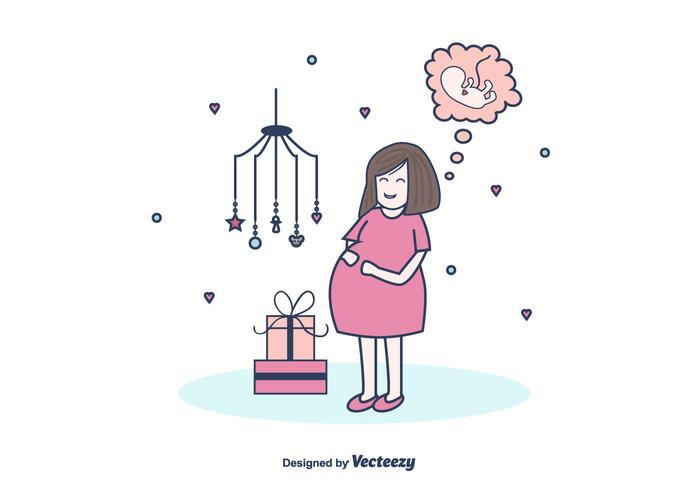 Gratis gravid mamma vektor