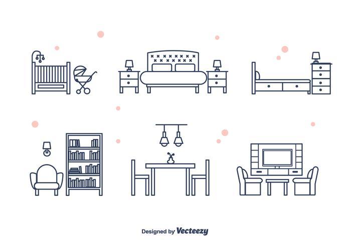 Möbel Vektor