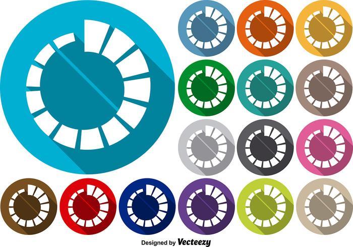 Vector Set von Preloader Icons