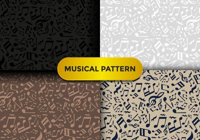 Violine Key Music Pattern vektor